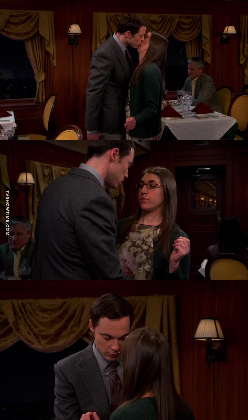 Wow this is such a major step in their relationship, and it happened to unexpectedly... but it was so cute, romantic vand sweet ! I'm so proud of Sheldon !