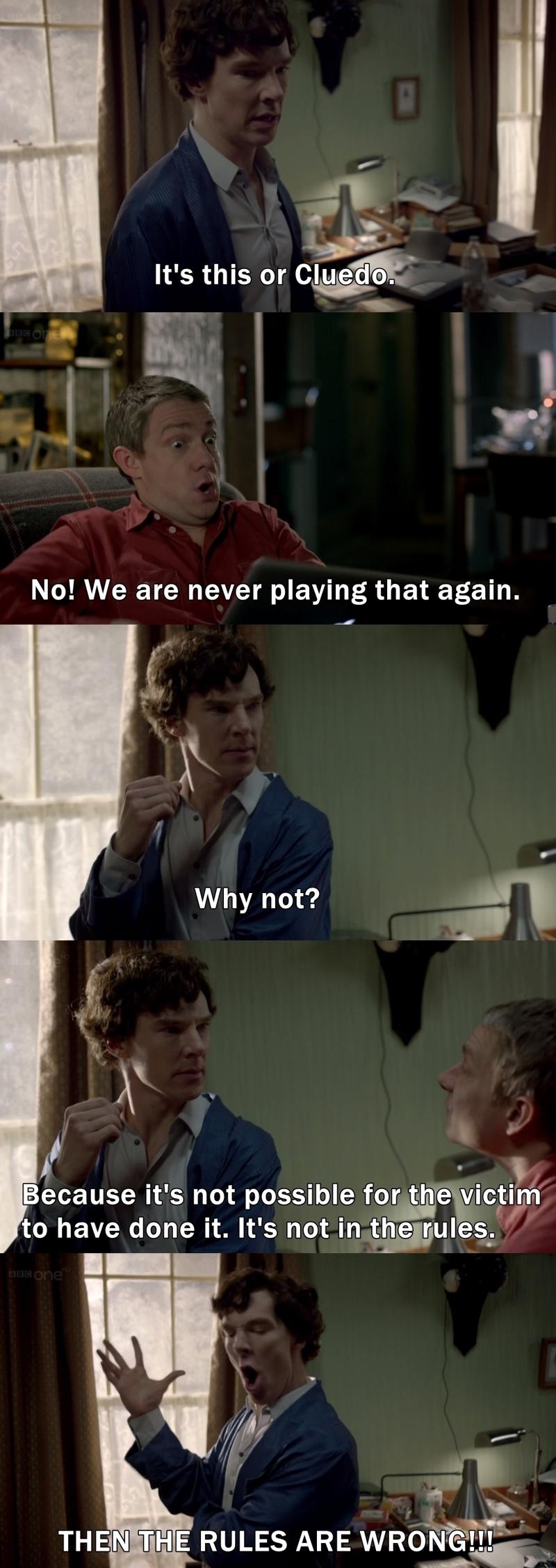 Damn, Sherlock! HAHAHAHA
