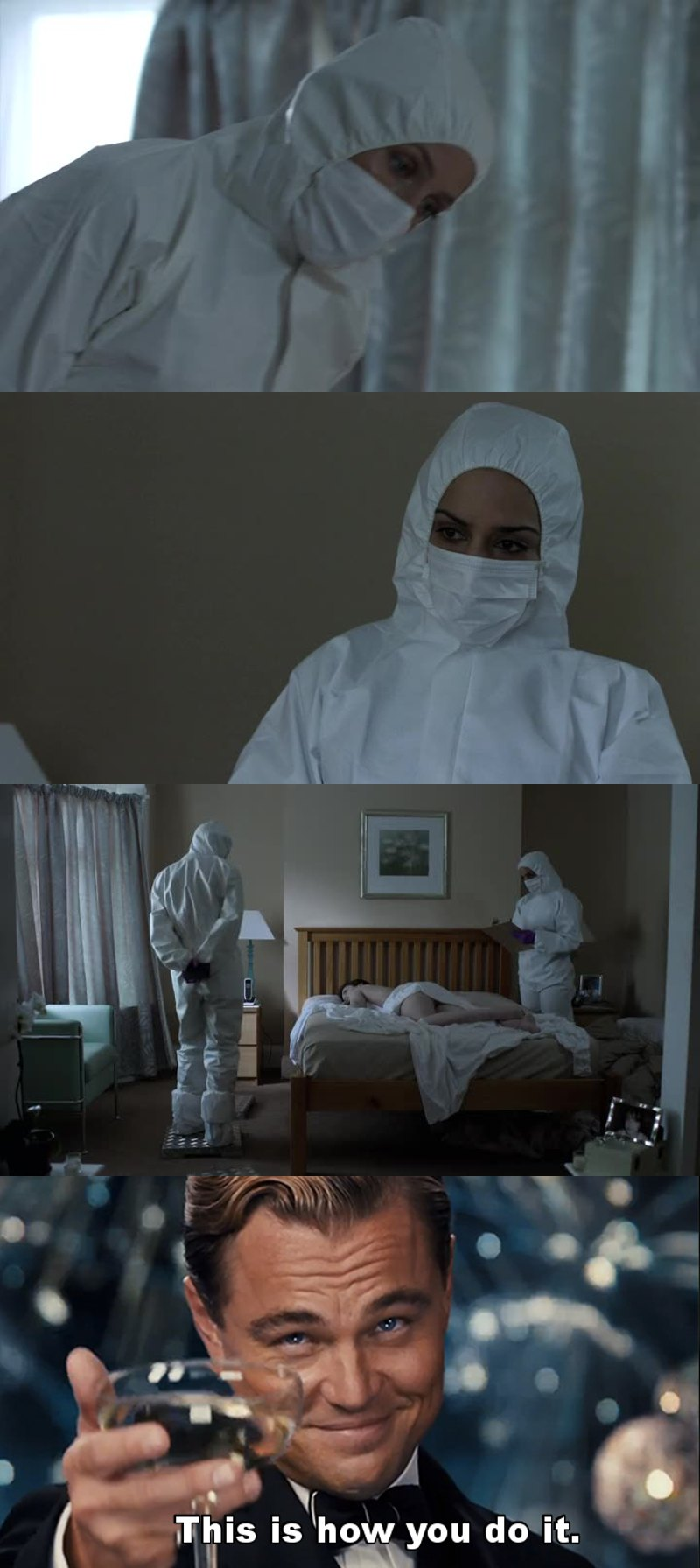 To other investigations shows:  You can't always have these two (I mean... fucking Stella Gibson aka Dana Scully, and Reed Smith aka Kalinda Sharma) checking a murder scene, but you can at keast do it right.  And...
