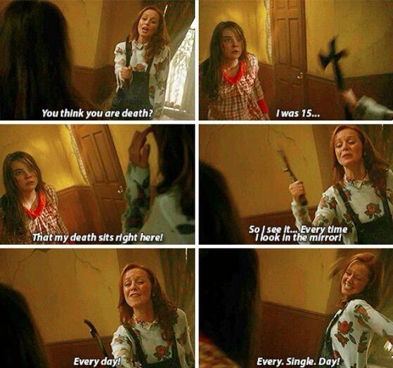 Ho adorato Cassandra in questo episodio! Nonostante tutto quello che le è successo nella sua vita, lei è rimasta una donna forte e coraggiosa. *^*
