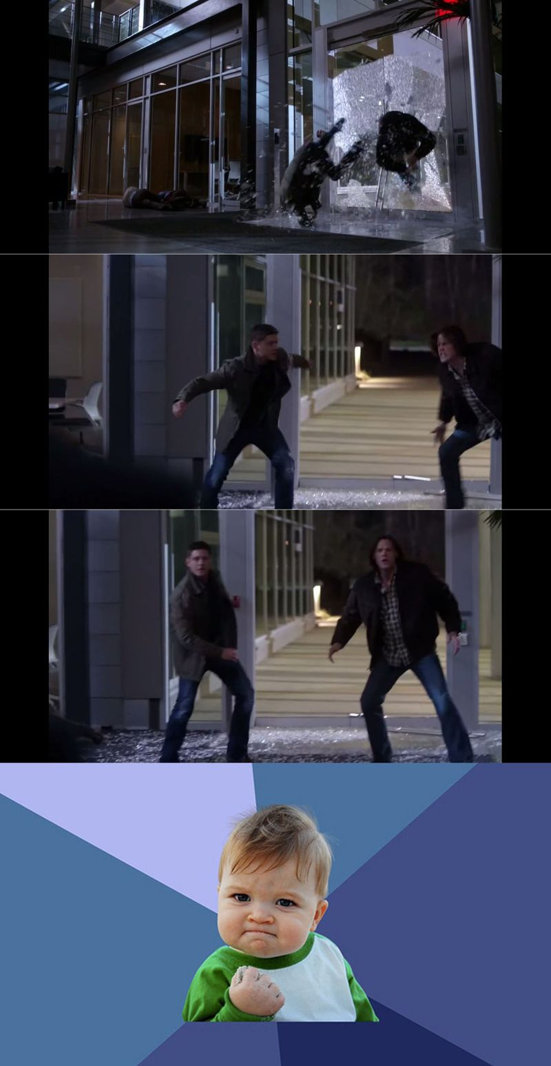 Okay...that was a top-five badass entrance in SPN history....