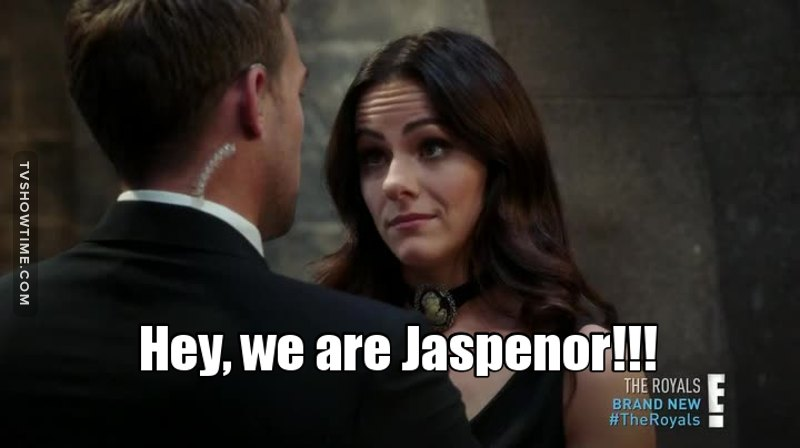 The writers used our ship name!! #JaspenorFans 👏🏻👏🏻👏🏻❤❤