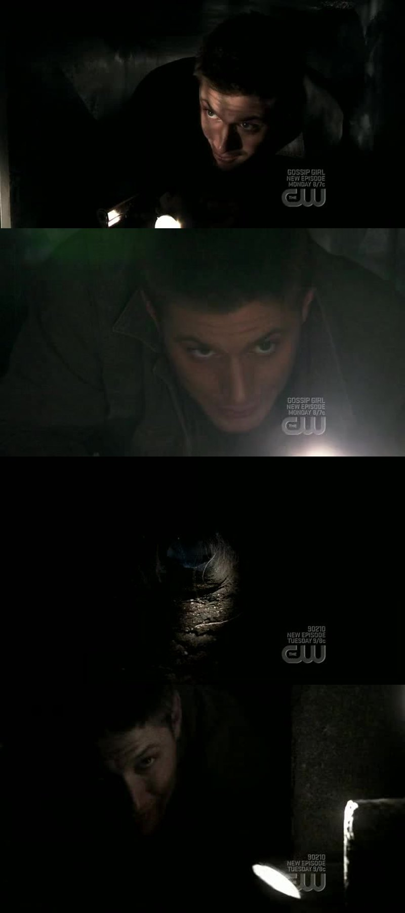 Haha... It's good Dean isn't claustrophobic.  \;^)