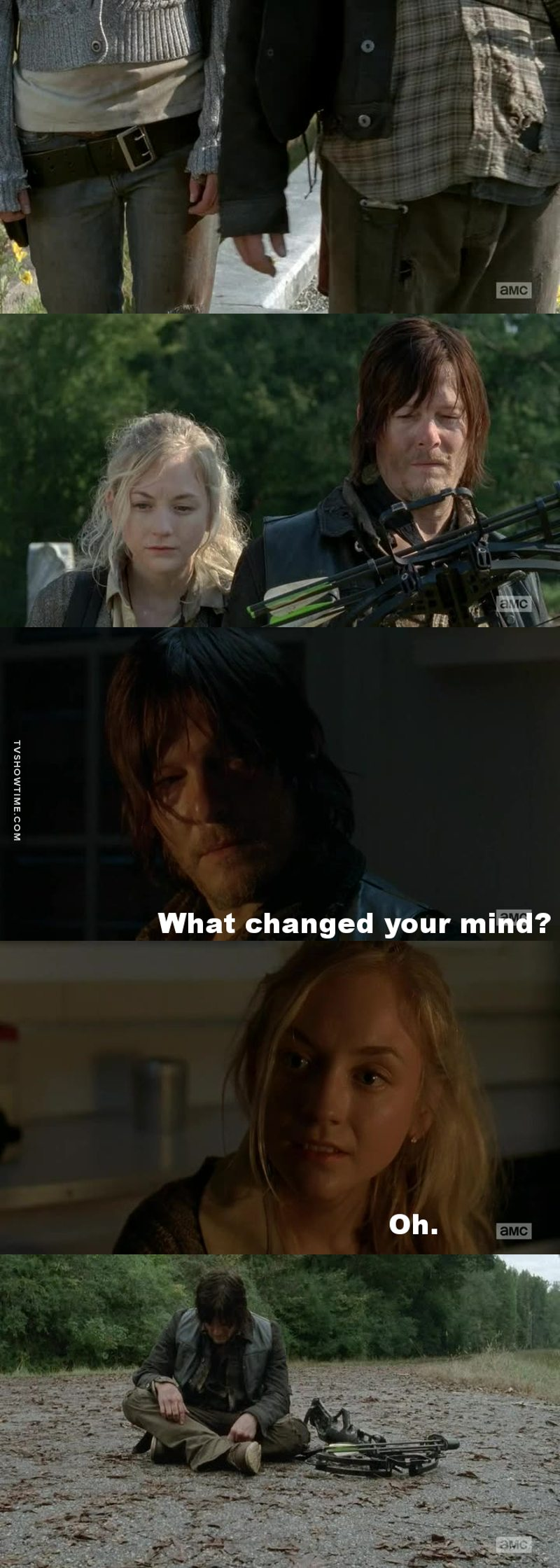 """""""You're gonna miss me so bad when I'm gone, Daryl Dixon"""""""
