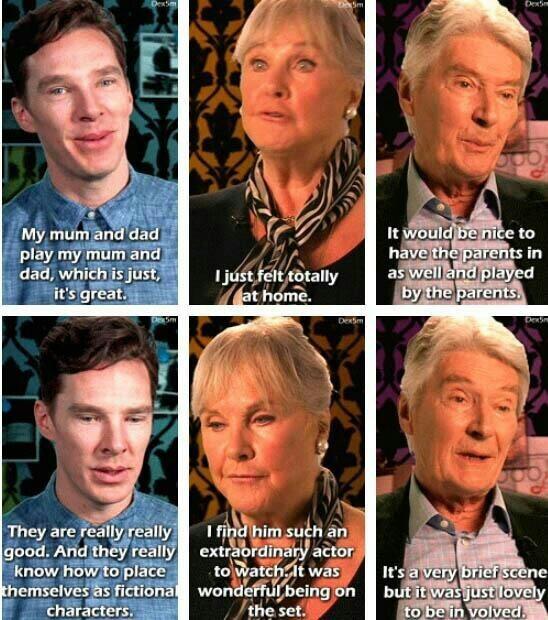 Sherlock's parents are Benedict's parents 😂❤