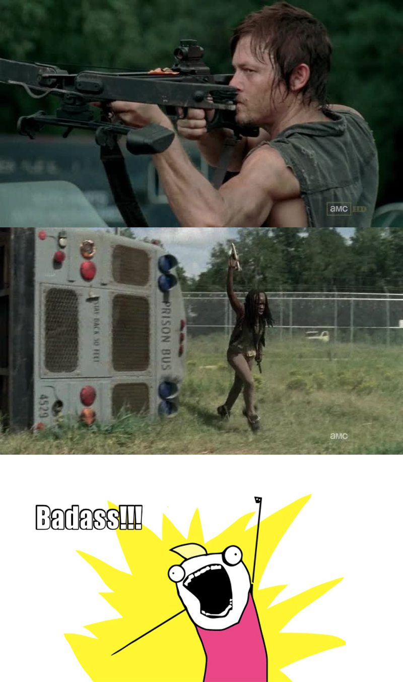 Without Daryl and Michonne they would've been screwed !