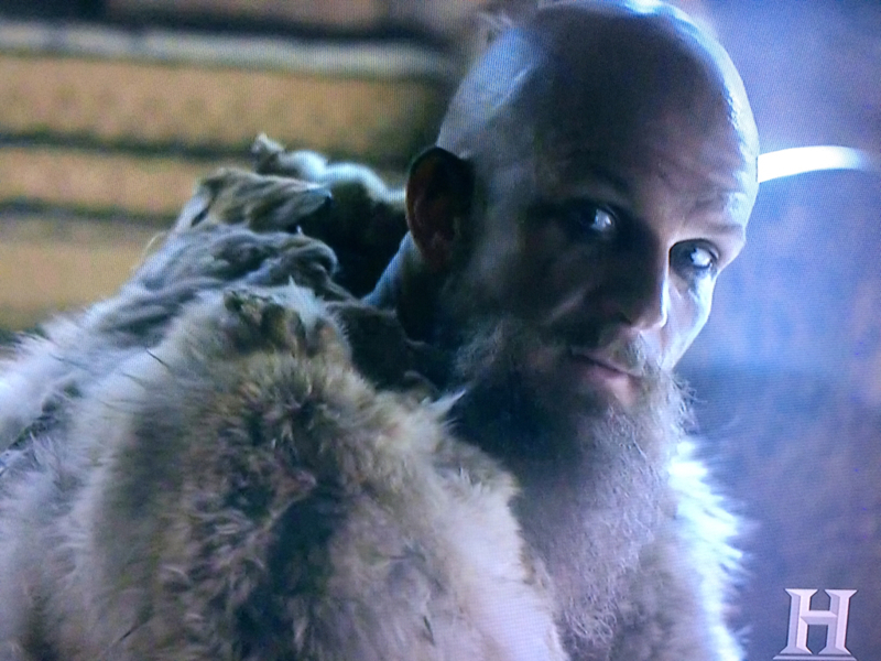 Helga:  Are you going with the Army? Floki:  Of course.  I have to avenge Ragnar.  He loved me.