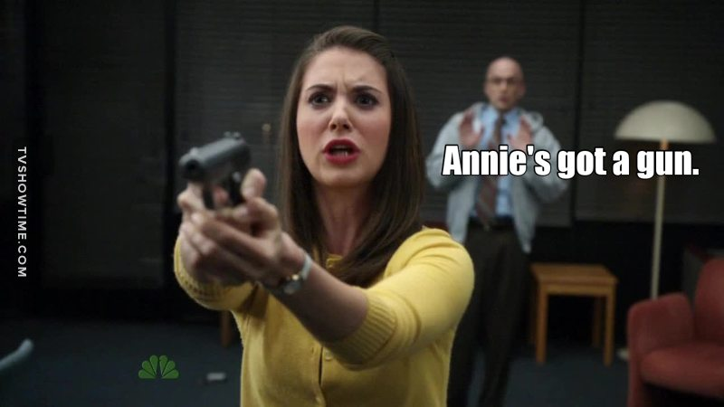 So many fake death i didn't know i didn't know who to vote for but then again... Annie's got a gun