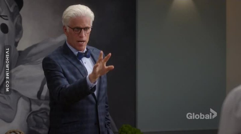 Ted Danson played the part fantastically: love how he pulled off such a reveal!