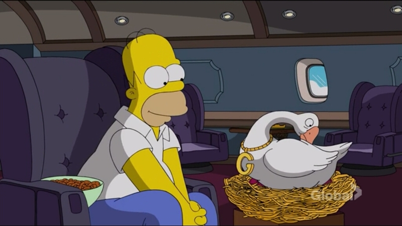Find someone who looks at you the way Homer looks at Goosius