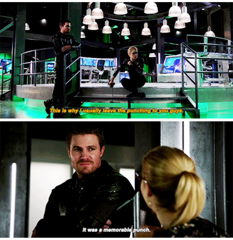 He's so proud of her. 😍  Good for you Felicity that was a memorable punch!!