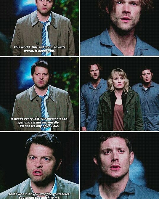 Cas loves the winchester so much 😢💜
