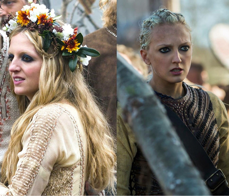 Fun Fact: Helga and Torvi are sisters. Their father is Michael Hirst, who is the creator of Vikings.