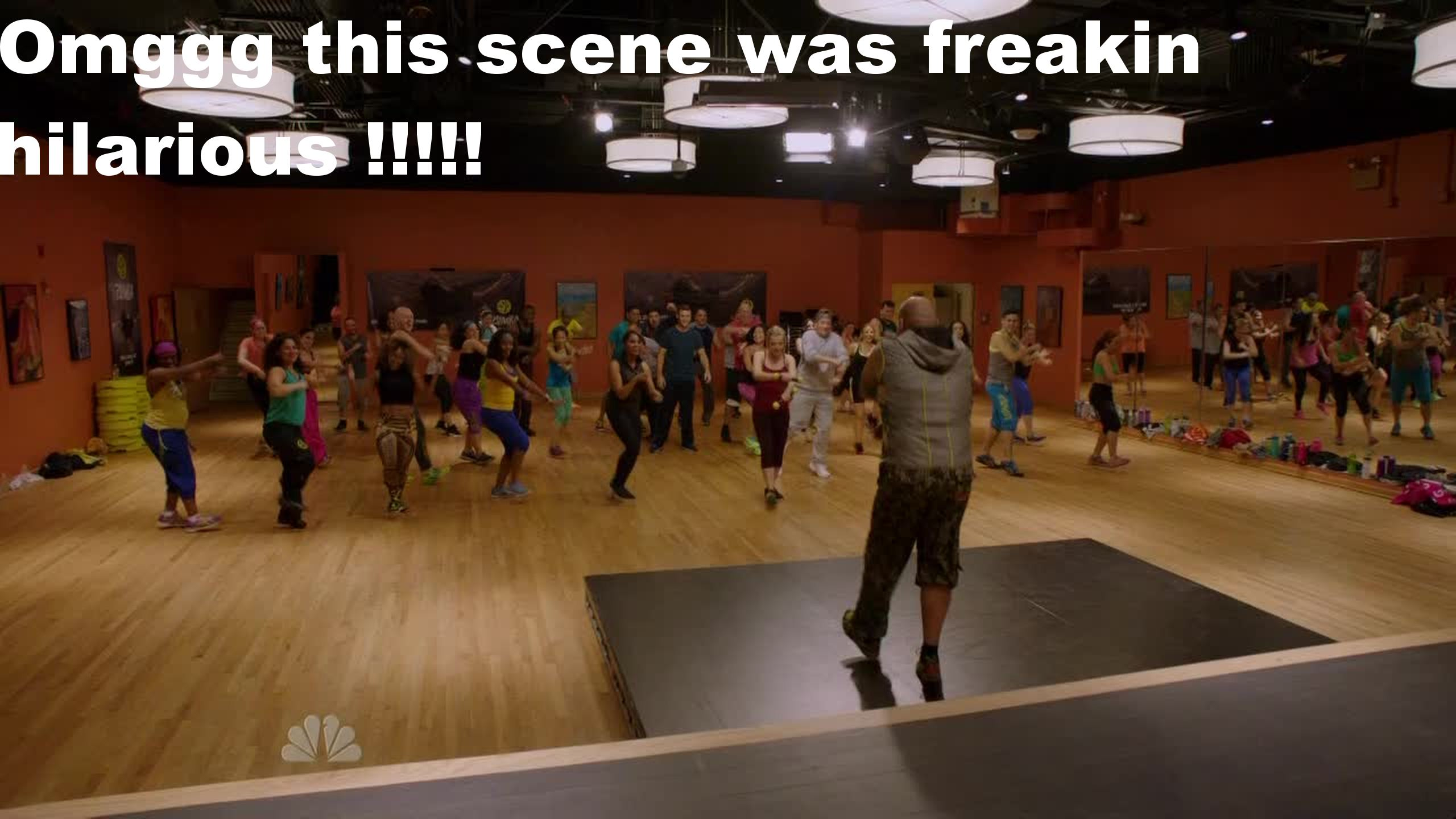 Omggg once again this zumba scene with the crew of CF was freakin hilarious and awesome, I was laughing so much ahhaha !!!!