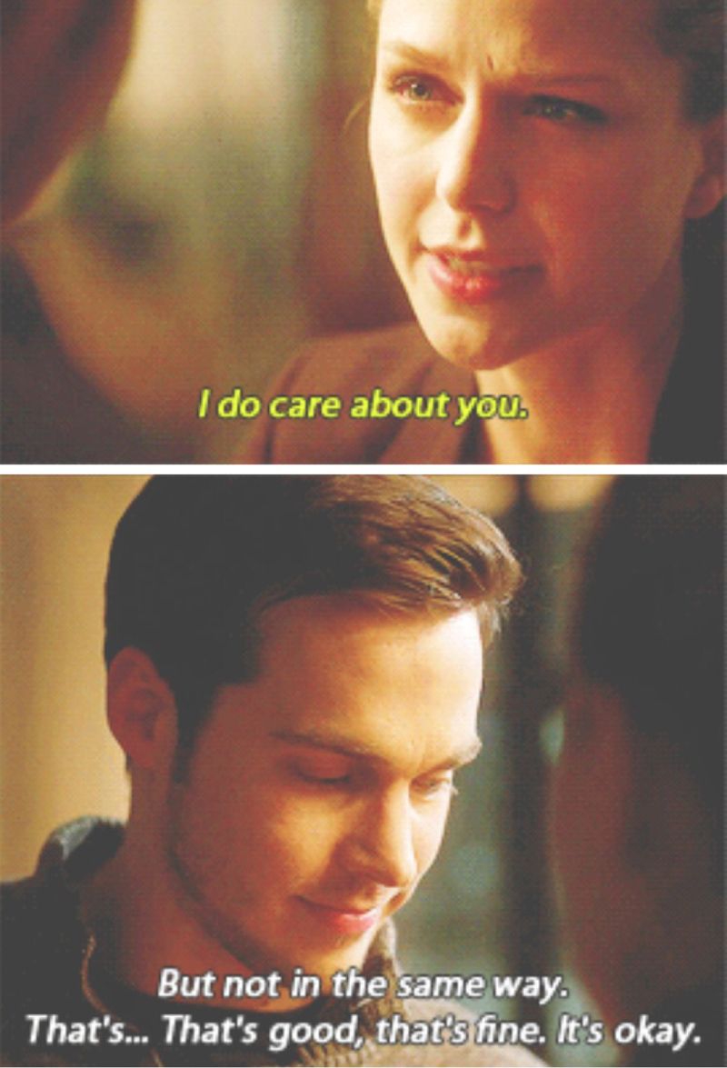 """""""I'm not here to change your mind. I get that you don't care about me."""" Mon-El   Whyyyyy 😭💔"""