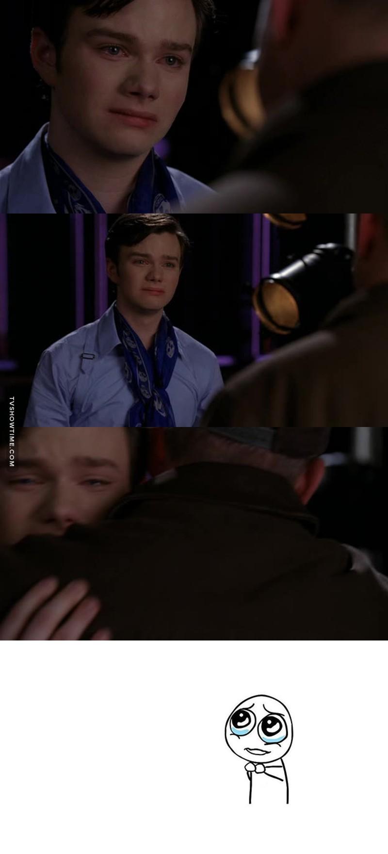 When Kurt cryng.