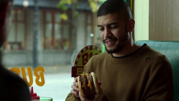 Find someone who looks at you the same way Rene looks at his triple burger