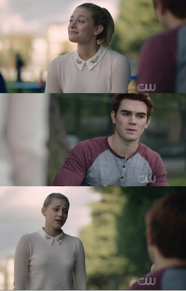 """Betty, are you ok?"" ""I'm supposed to say: Yes. That's what the nice girl always says but, no, I'm not. I want to be, I thought I could be. But it's too much, too fast Archie!"" BETTY DESERVES ALL THE HAPPINESS ON THE WORLD ❤❤❤❤❤❤❤❤❤"