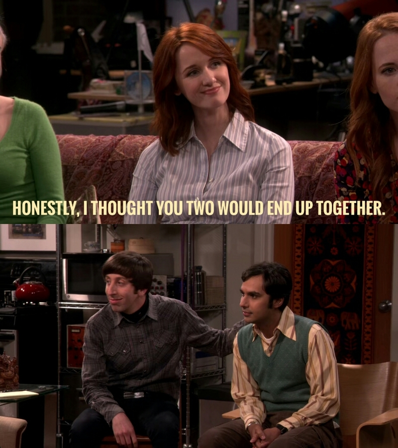 Oh yes!! Raj and Howard would be perfect for each other!!!