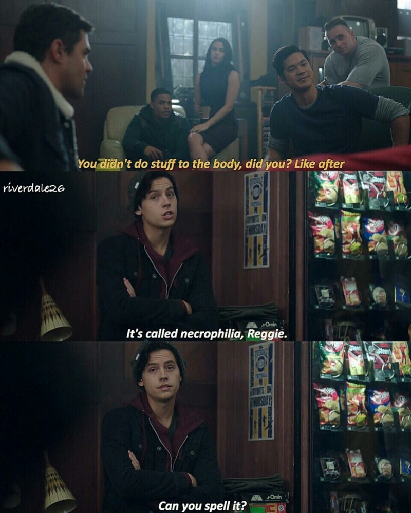 I laughed so hard at this scene, I love Jughead so much 😂