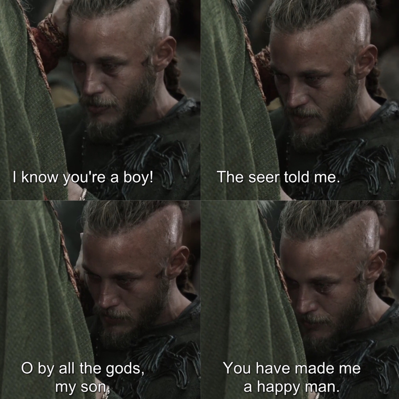Ragnar's reaction when Lagertha told him she's pregnant 😭