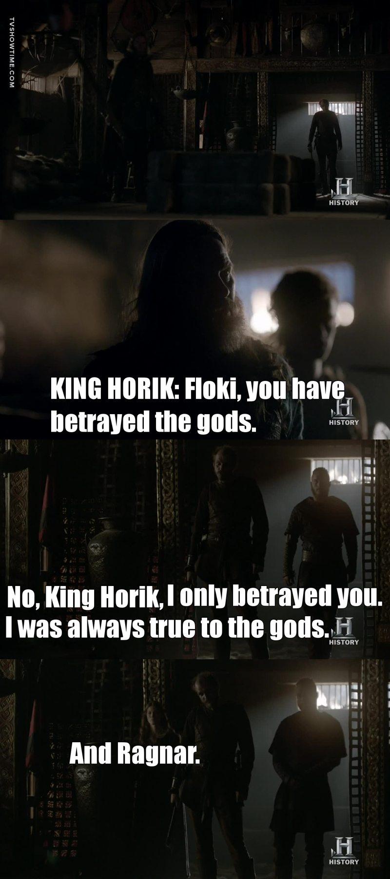 I knew it, I knew it. Floki isn't a traitor.