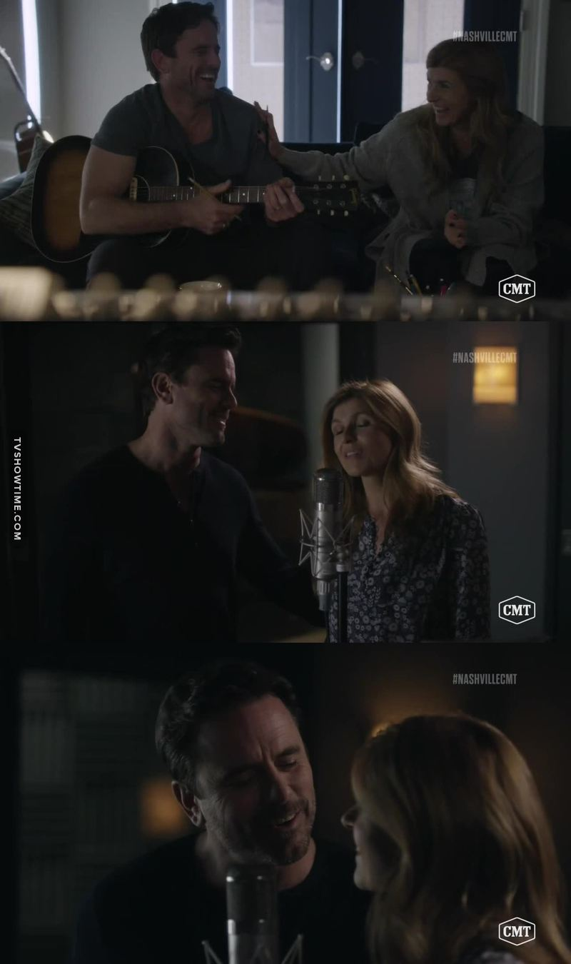 I love watching Deacon and Rayna making music again, together