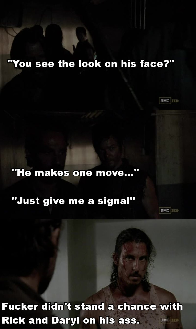 This little agreement between Daryl and Rick was brilliant. No hesitation, no questions asked.