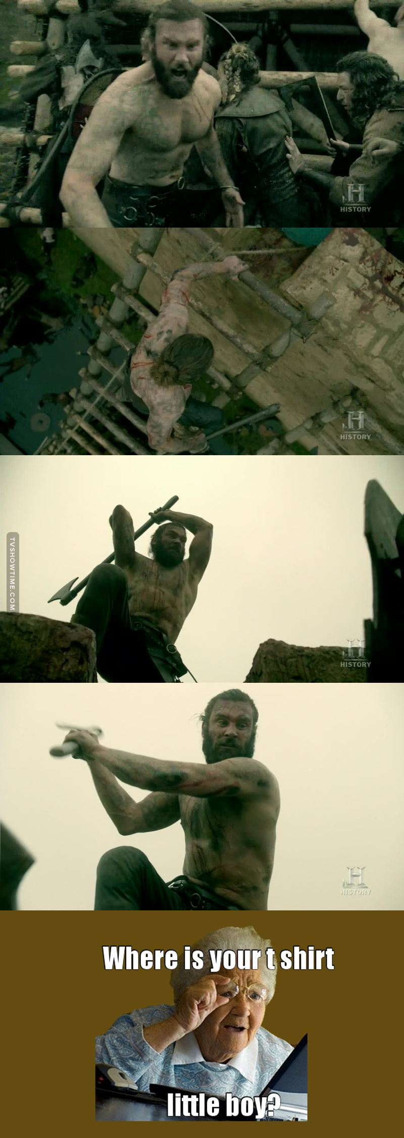 Rollo: the man who fights naked...ALWAYS