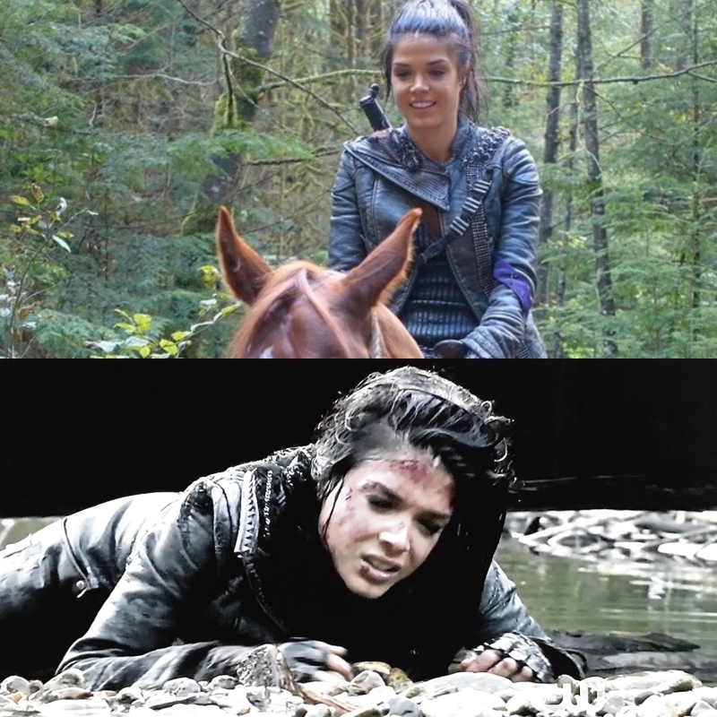 me before and after an episode of The 100