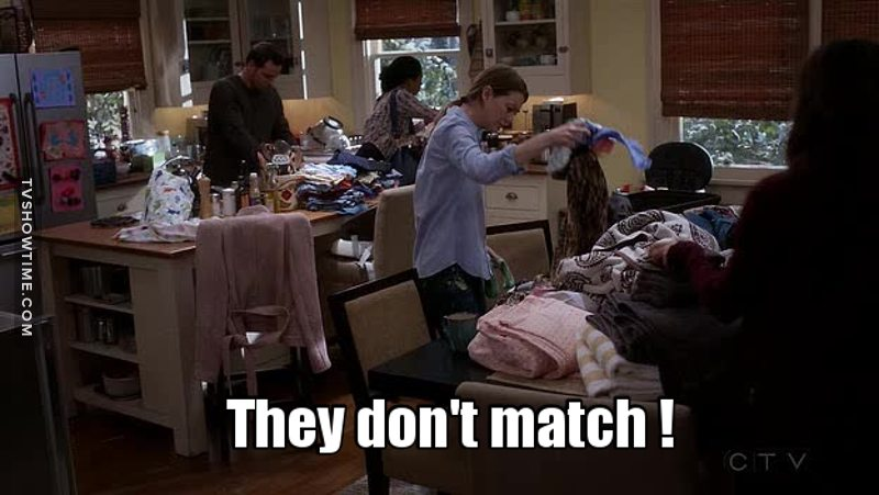 So, that's the first time Mer does the washing ...