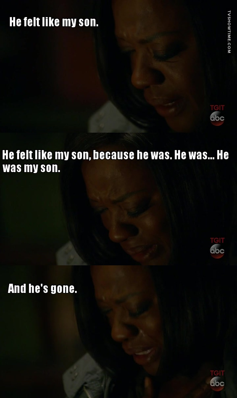 Yes, Laurel, Annalise didn't care about Wes at all... 😒 Heartbreaking scene, poor woman. ❤️