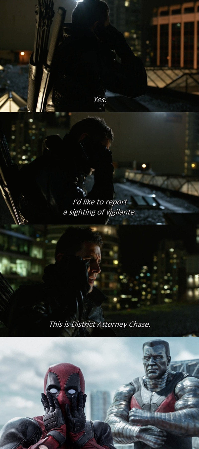 What a plot twist!  Who's Vigilante?