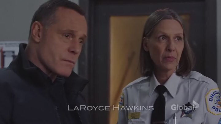Trudy Platt: I'm gonna head back upstairs.  Hank Voight: That's probably a good idea. Trudy Platt: uh huh. These guys are dangerous together.