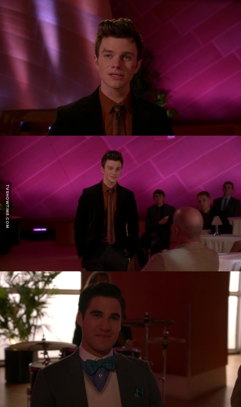 Blaine is so proud of his man