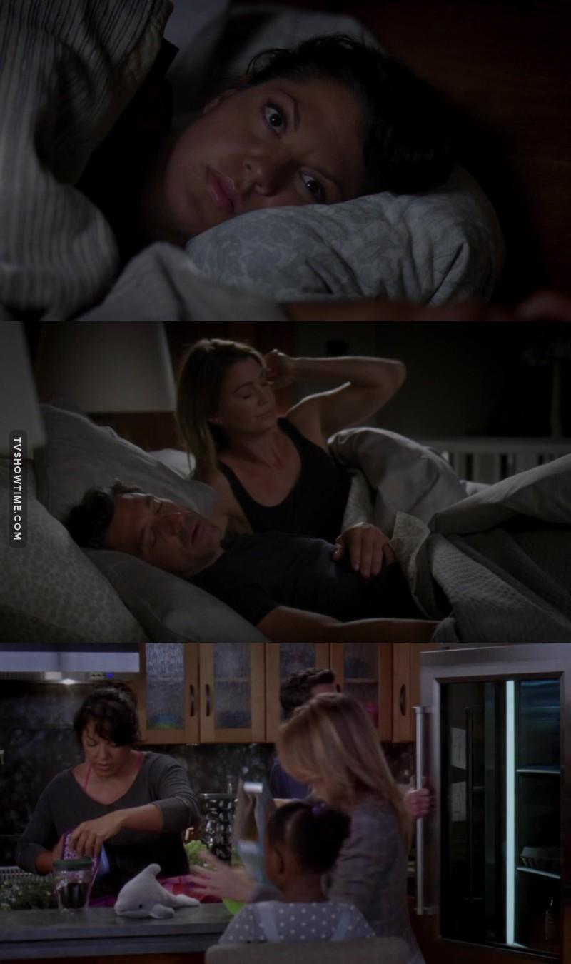 Melhor família ❤ Morri com o selinho espontâneo da Callie e Meredith 😂😂😂😂😂😂😂