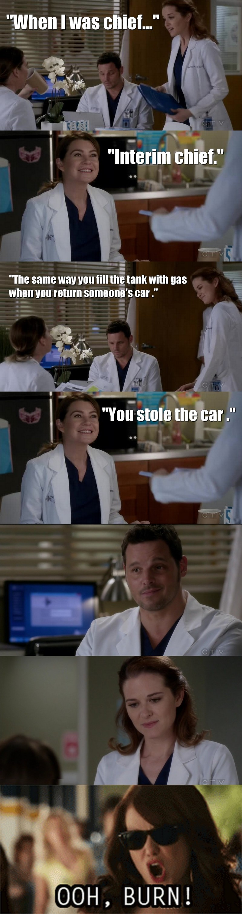 Meredith, I never loved you more than I did at this moment. :')