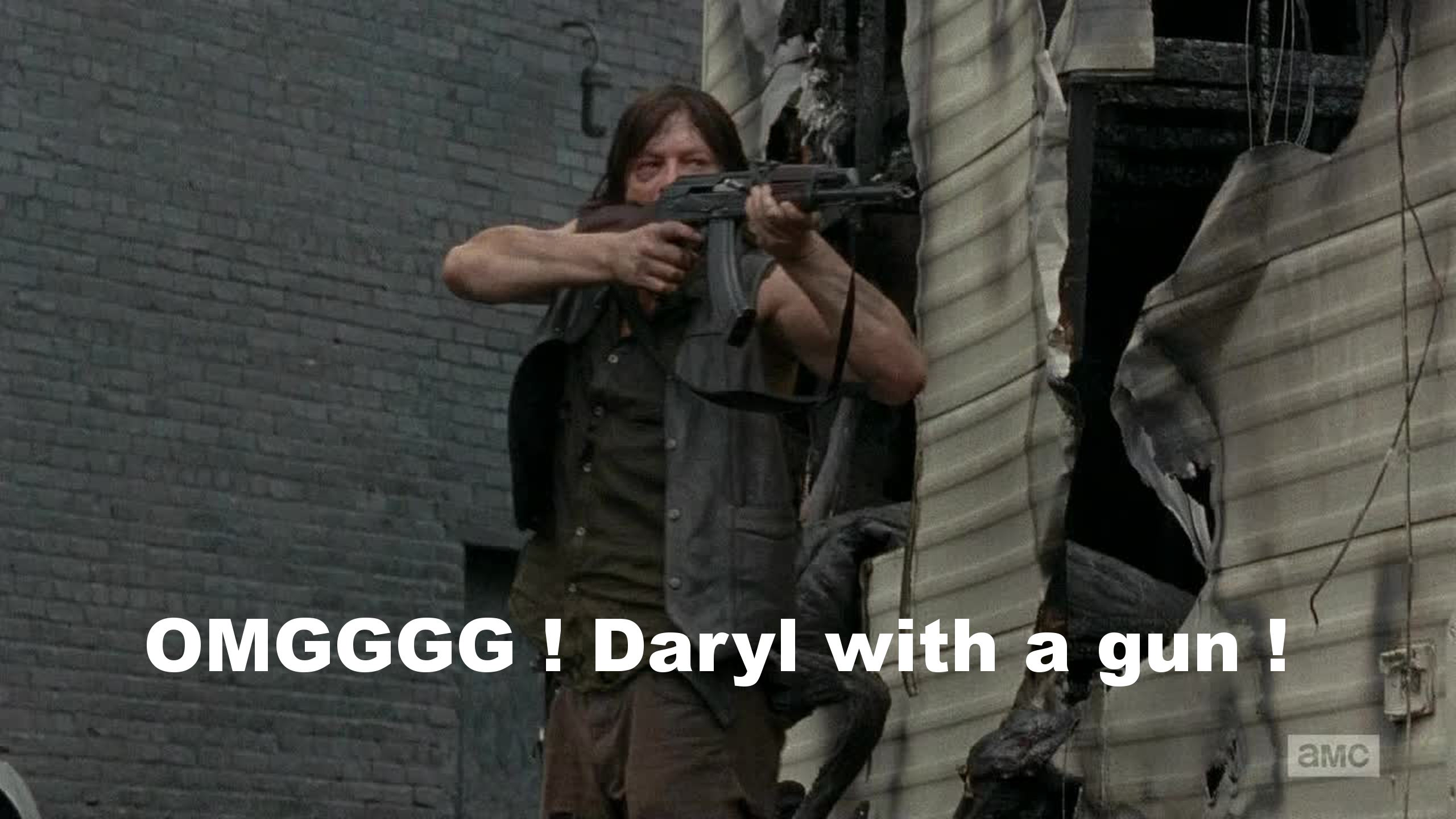 It's so weird when he doesn't have his crossbow