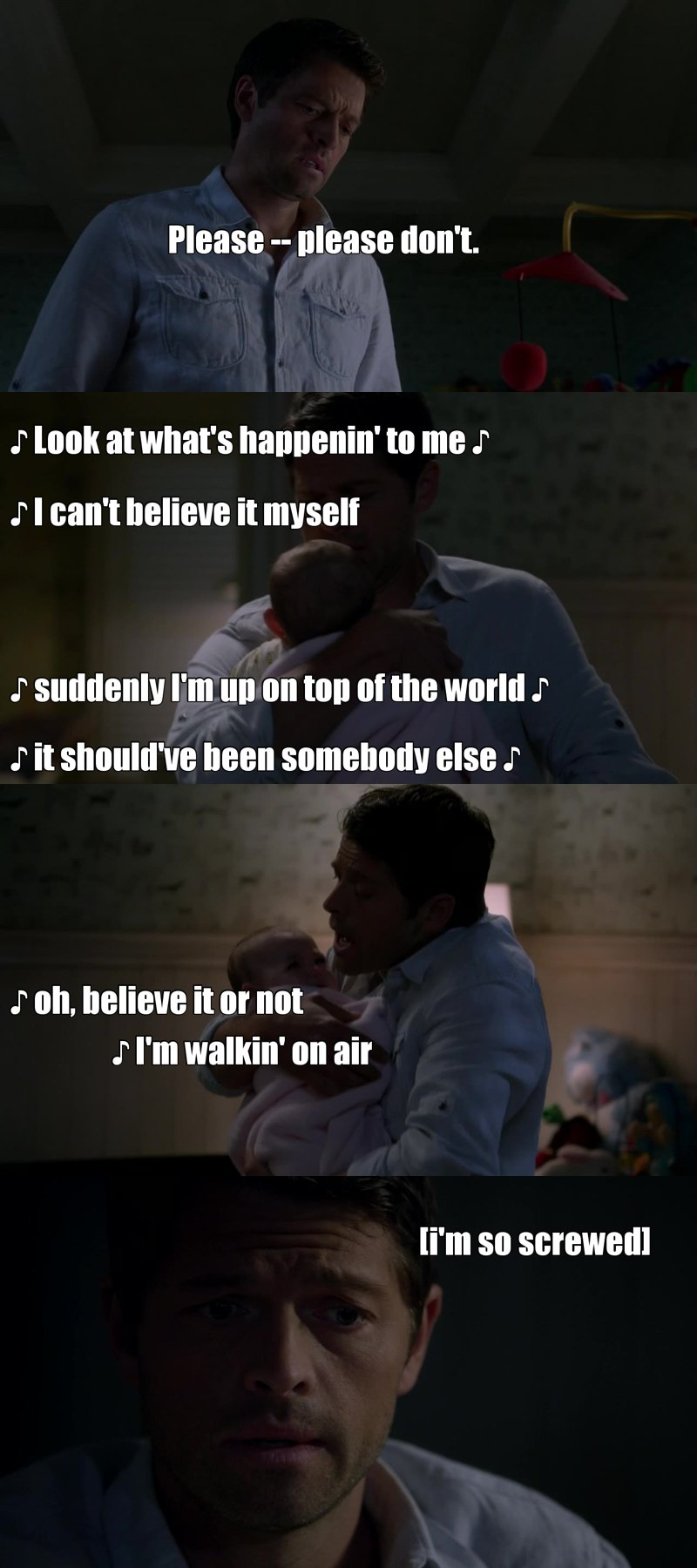 Cas beeing a human is so funny and Sad !!!! how does it even possible?😓😓😓 Poor angel 😥 ain't easy being a human Huh Cas? 😔