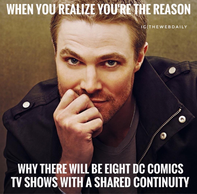 This guy though.....  Arrow is One of the BEST superhero shows on tv