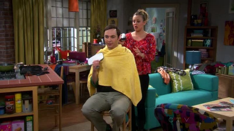 The careless haircut must be the dirty joke Sheldon has been looking for... Finally understand one😆