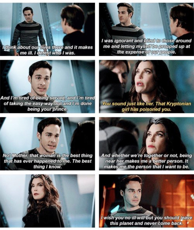Yes. Mon-El screwed up by not telling Kara the truth about him but this scene really shows up he's changed now and how he loves Kara. I hope they work things out. YOU GO MON-EL, YOU GO 👍