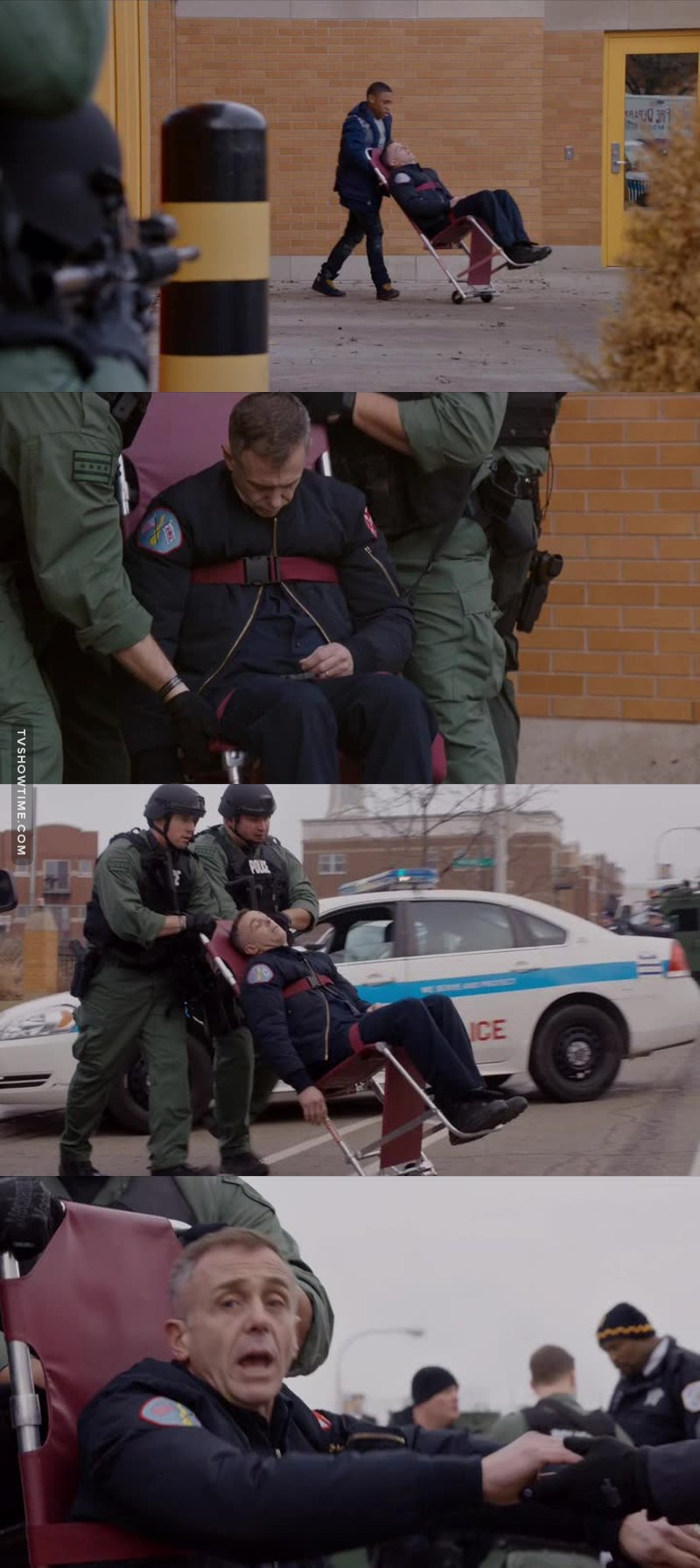 Hermann almost gave me a damn heart attack by faking a heart attack 😵😦 I swear he is amazing. This whole episode was amazing.  I was constantly worried one of my babies was gonna die, especially Severide and Casey.