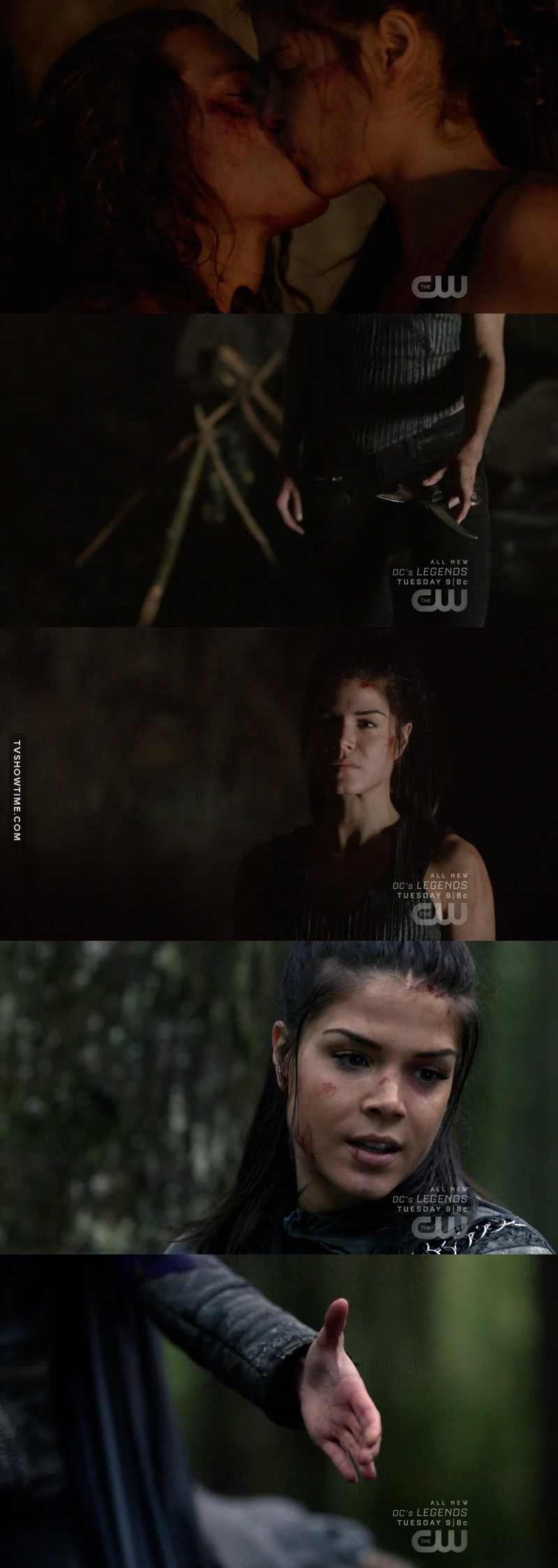 This probably means the beginning of Octavia's change, she's getting lighter.