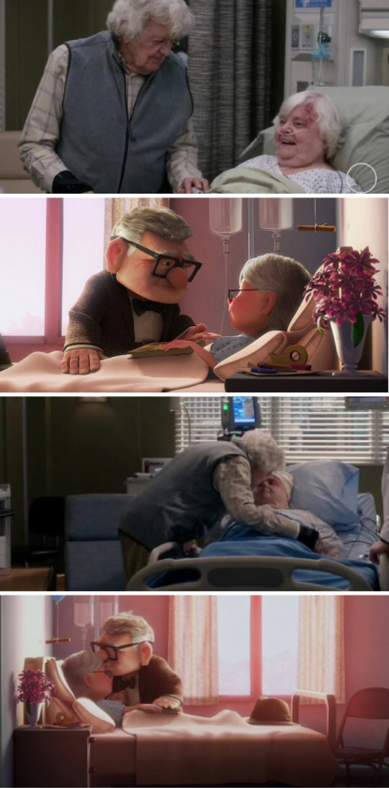 They remind me of Carl & Ellie from UP so much! This story kills me 😢