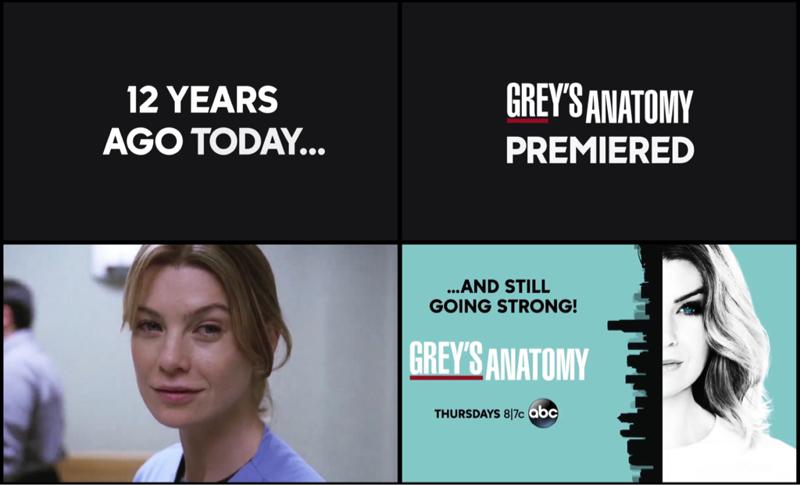 Happy birthday Grey's anatomy 🎉🎉