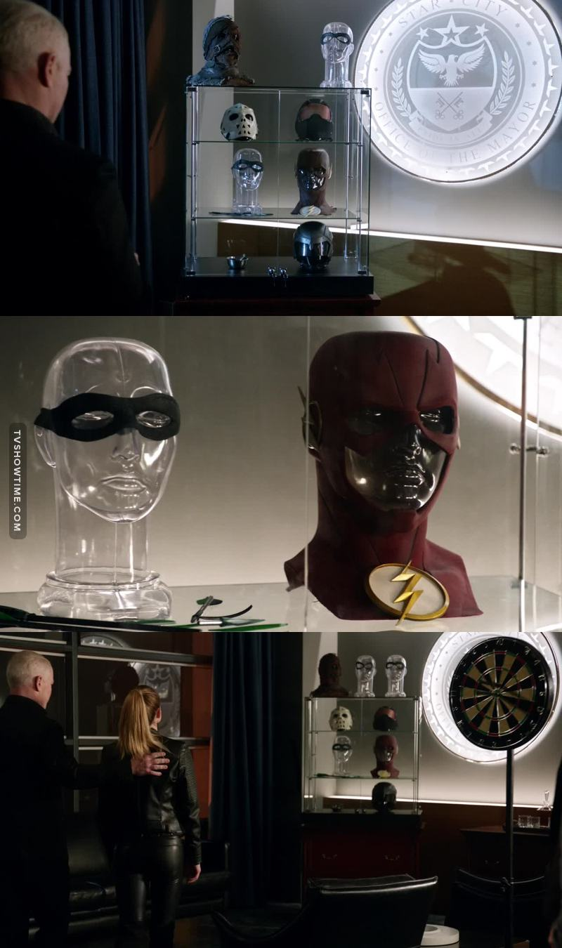 Darhk's trophy case is breaking my heart! 😭💔