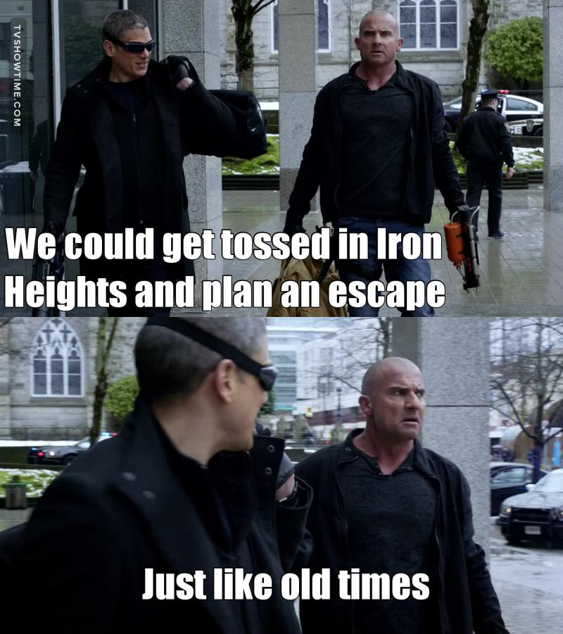 Love the Prison Break references😂😂