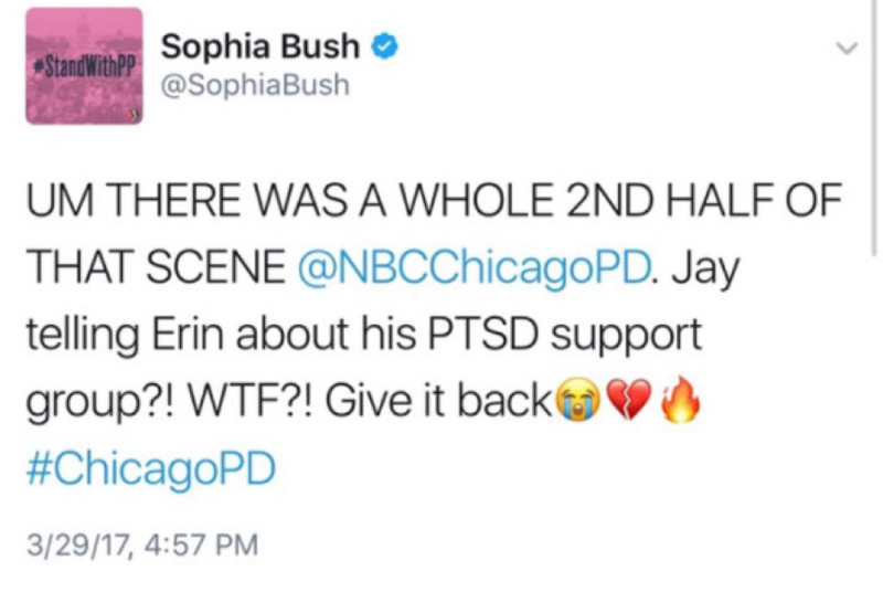 *Insert Jay's no she didn't GIF from tonight* oh my god Sophia THANK YOU, MY QUEEN! WTF indeed! I'm so sick and tired of this!!! It's sad how we're figuring out most of the things we need to know about Jay from Chicago Med instead of Chicago PD! Dear CPD writers and production team, Jay Halstead is a character on your show CPD, you know that right?! It doesn't seem like you do!