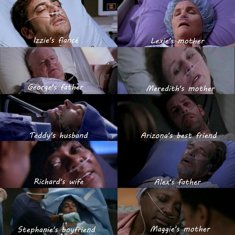 You don't want to be anyone's relative in grey's 😢😢